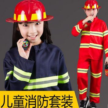 2016 Hot Children's Halloween Costume Boys police Clothing Kids doctor pilot fireman Cosplay Military uniform Bachelor's clothes