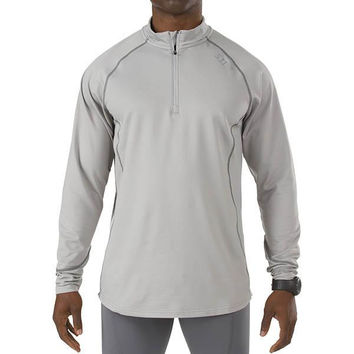 5.11 Sub-Z Quarter Zip Long Sleeve Shirt, Steam, 2XL