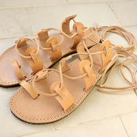 Lace up sandals, Gladiator sandals, Womens leather sandals, Beach shoes, Ancient Greek sandals, Spartan sandals, Genuine leather sandals,