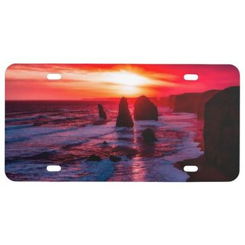 Beautiful Sky Waves Australia License Plate