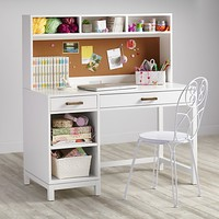 Cargo Kids Desk (White)|The Land of Nod
