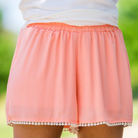 SALE-Go With The Flow Shorts-Peach