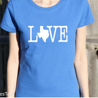 Womens Texas Love Shirt