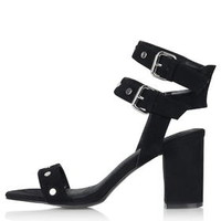 NORA Stud Sandals - Black