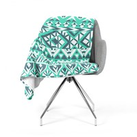 "Pom Graphic Design ""Tribal Simplicity"" Teal Fleece Throw Blanket"