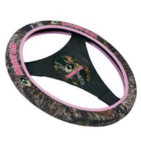 Mossy Oak Camo and Pink Neoprene Steering Wheel Cover
