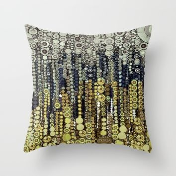 :: Gray Gatsby :: Throw Pillow by :: GaleStorm Artworks ::