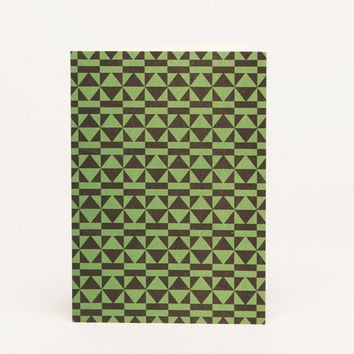 Peggy A6 Notecard - Green / black by Esme Winter