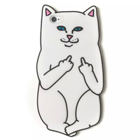 2016  Newest cartoon animals you rock cut white corna cat soft silicone case Capa Para Fundas For iphone5 5s 6 6s/6plus 6splus