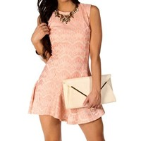 Madelyn-Blush Homecoming Dress