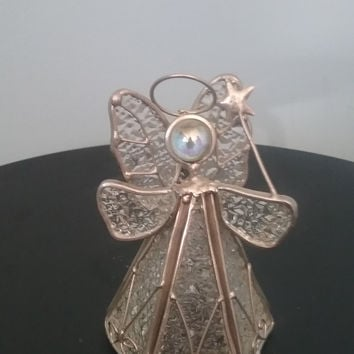 Silver Christmas Angel Ornament
