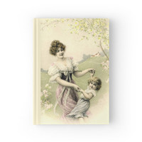 Hard Cover Journal, Victorian Spring Time Dance Book