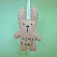 Christmas in July 20% OFF ChristmasinJuly 20 Percent OFF Tree office ornament funny bunny - Sexy time - CIJ