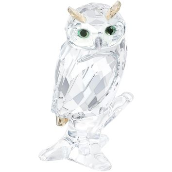 Swarovski Crystal Figurine OWL ON BRANCH, Clear - 5043988
