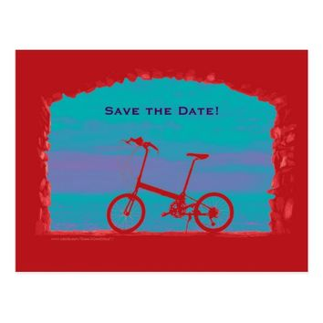 Save the Date 70th Birthday Party Postcard Bicycle