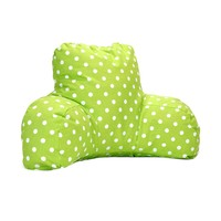 Printed Reading Pillow - Small Polka Dot - Lime