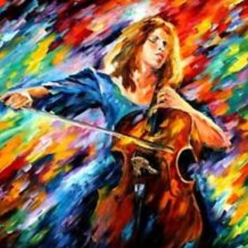 "BLUE RHAPSODY — PALETTE KNIFE Oil Painting On Canvas By Leonid Afremov 40""x30"""