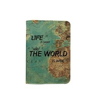 Old Worls Map Customized Cute Leather Passport Holder - Passport Protector - Passport Covers - Passport Wallet_SUPERTRAMPshop