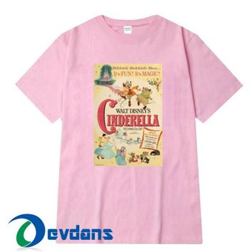 Classic Cinderella Movie Poster T Shirt Women And Men Size S To 3XL