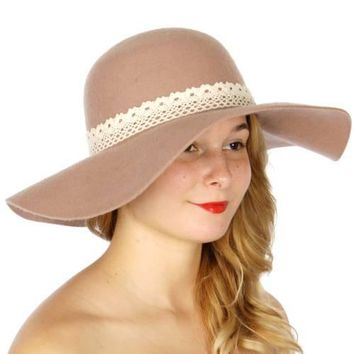 Floppy Hat With Crochet Band