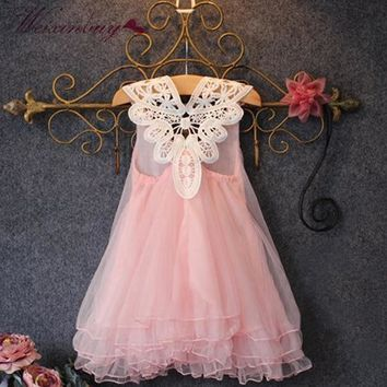 Special Tulle Dress with Handmade Battenburg Lace Collar (2T-6)