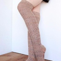 Over The Knee Multicolored High Boot Socks - 4 Color Options
