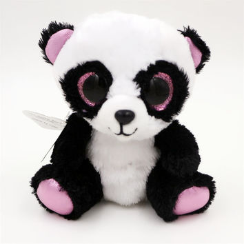 Ty Beanie Babies Ming - Panda Bear Original Boos Big Eyes Plush Toy Doll TY Baby Kids Gift 10-15 cm Stuffed Animals