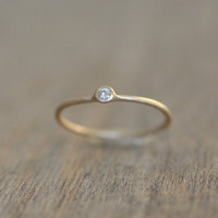 14 Karat Solid Gold Stackable Ring set with Moissanite