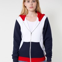 f4973w - Unisex Flex Fleece Color Block Zip Hoodie