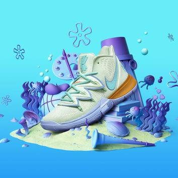 SpongeBob SquarePants x Nike Kyrie 5 Squidward Tentacles Men Sneaker - Best Deal Online