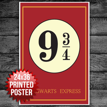 Harry Potter 9 3/4 Howarts Express Movie Poster