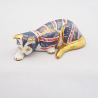 The Franklin Mint Curio Cat Collection Imari, Vintage Franklin Mint Cat Collectables, Cat Figurine