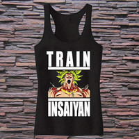 Train Insaiyan - Broly Tank top for womens and mens heppy fit