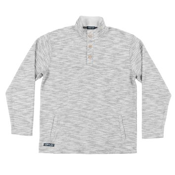 Beaufort Knit Pullover in Light Gray by Southern Marsh