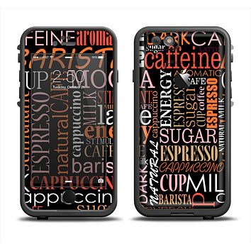 The Cafe Word Cloud Apple iPhone 6/6s LifeProof Fre Case Skin Set