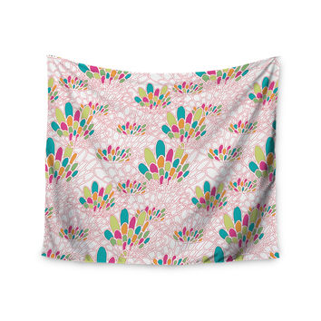 "Miranda Mol ""Blown Away"" Pink Multicolor Wall Tapestry"