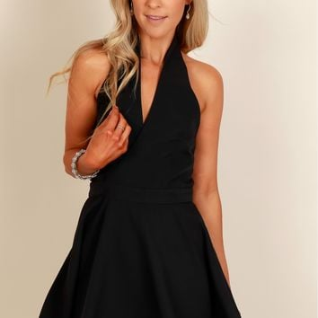 I've Got Class Halter Dress Black