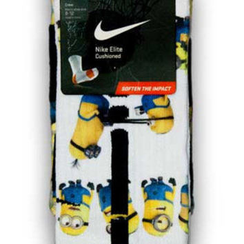 Minions Nike Custom Elite Socks