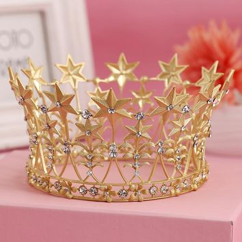 "LIMITED EDITION Becca"" Gold Vintage Birthday Tiara"