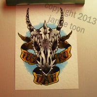 5x7 Skyrim Fus Ro Dah digital print by jamietoon on Etsy