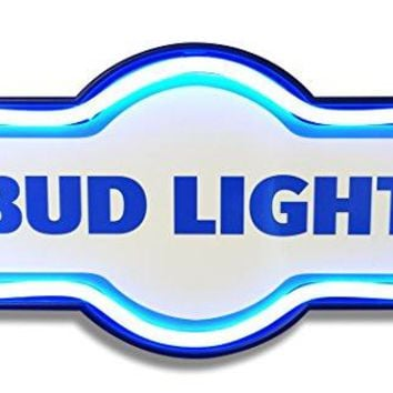 """Bud Light LED Lighted Sign, 17"""" Marquee Shape, LED Light Rope Designed To Give Look Of Neon, Wall Decor For Home, Bar, Garage, or Man Cave"""