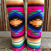 Boot Rugs ~ Pink Tribal