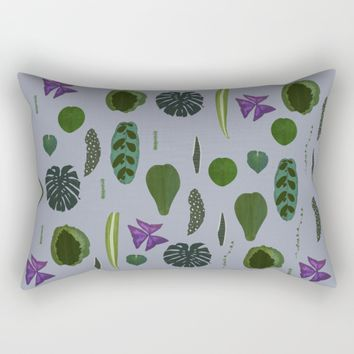 A non-scientific botanical investigation of the indoor plant.  Rectangular Pillow by Olivia James