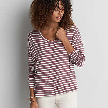 AEO Soft & Sexy Drop Shoulder T-Shirt , Mauve