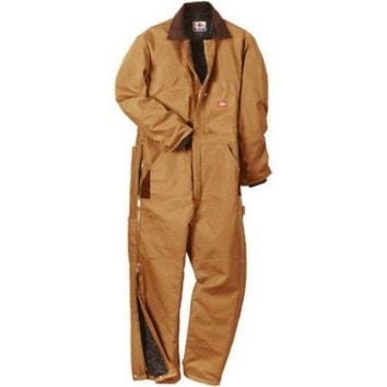 Dickies TV239BD2XLS Men's Short Fit Duck Insulated Coveralls, 2X Large, Brown