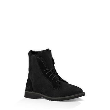 Sale Ugg 1012359 Black Classic Street Quincy Boots Snow Boots