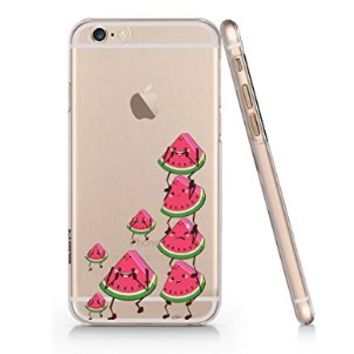 Watermelon Mini Family Pattern Iphone 6 case, Iphone 6 Case Slim White Cover Skin (4.7'' Screen) (LA015)