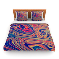 "Ingrid Beddoes ""Soap & Water"" Queen Fleece Duvet Cover - Outlet Item"