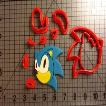 Cartoon TV Animal Sonic Hedgehog Cookie Cutter Tools Made 3D Printed Fondant Cupcake Top Mould Cake Cutter Decoration Tools
