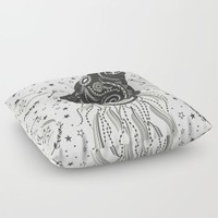 Wolf Floor Pillow by famenxt